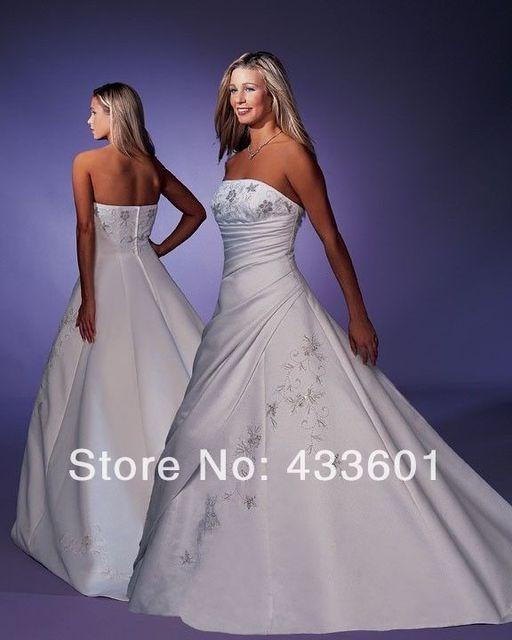 Wedding Dress Gown Designer Forever Yours 42211 16 Whiteblue Topaz