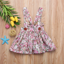 Baby Girls Floral Printing Sleeveless Clothes Party