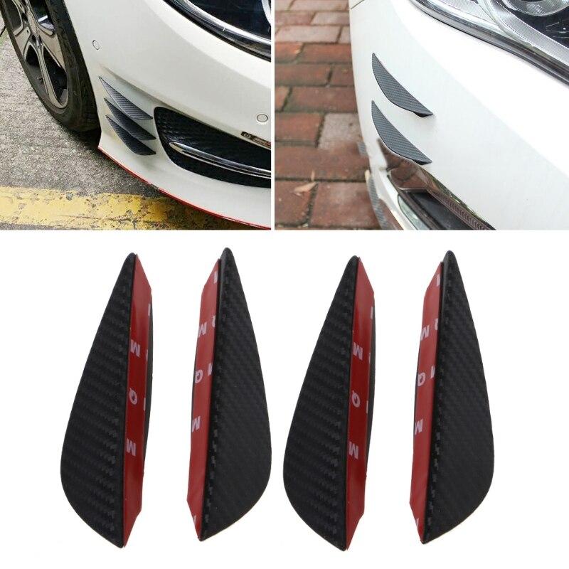 Glossy Carbon Fiber Car Bumper Fin Canards Splitter Diffuser Valence Spoiler Lip