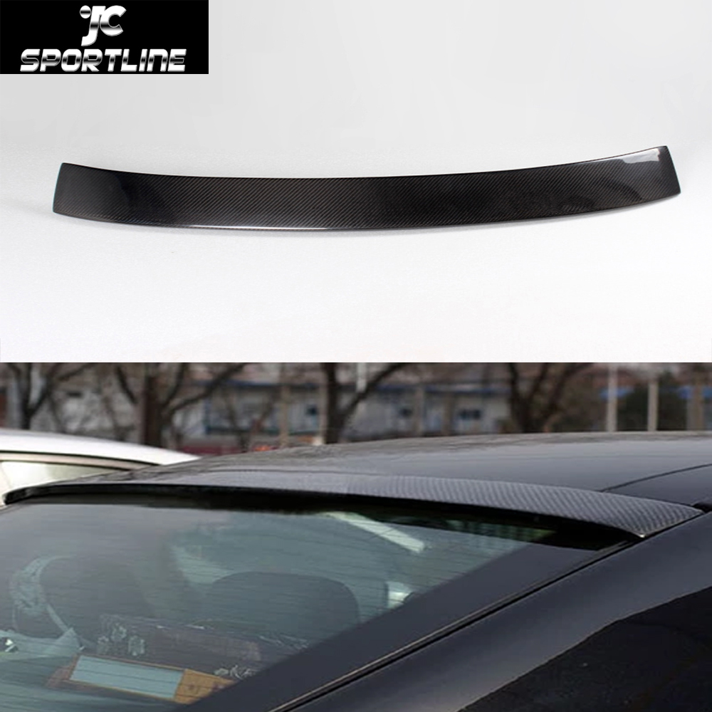 Car styling carbon fiber auto roof wing spoiler lip for for Wing motors automobiles miami fl