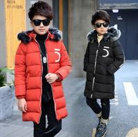 2019 Boys Winter Jacket Warm Coat Fashion Hoodies Outerwear For Children 6 8 10 12 Years Boy Clothing Kids Cotton Padded Parka