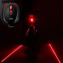 Snowshine2 #3001 Велоспорт Велосипед 2 Лазерный Проектор Красный Луч Лампы и 3 СВЕТОДИОДНЫЕ Задние Задние Фонари бесплатная доставка оптовая