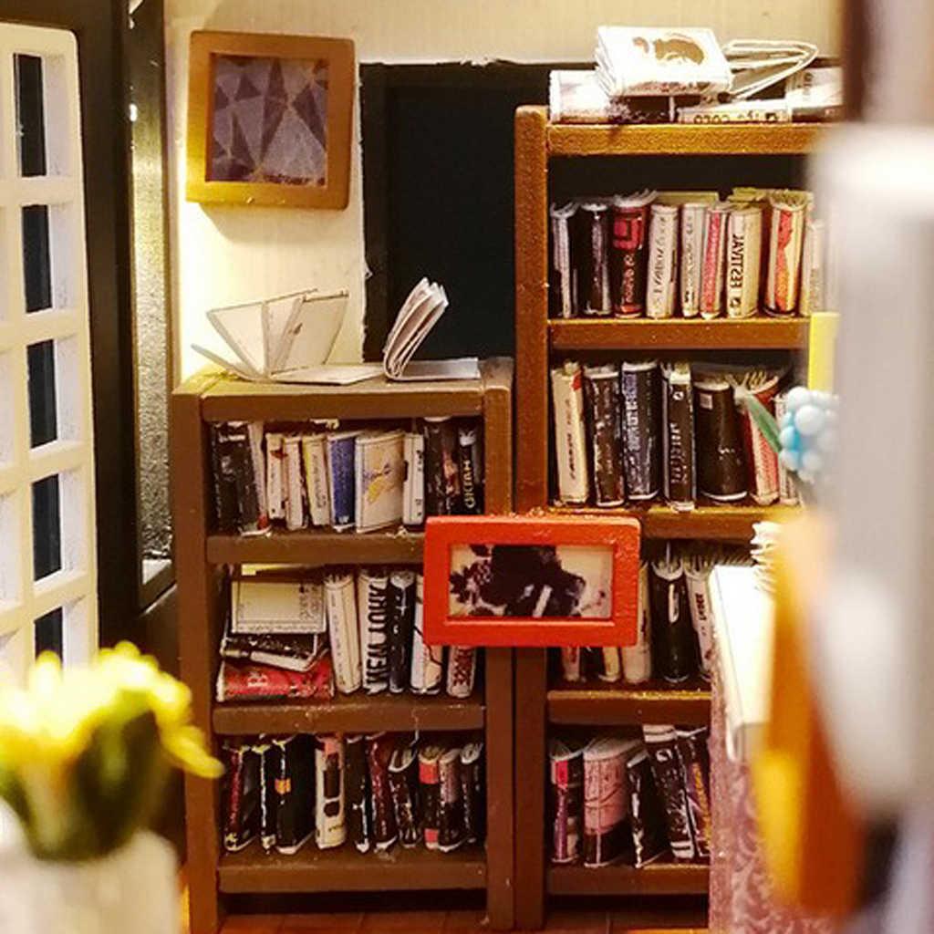 1/24 Dollhouse Miniatures Diorama DIY Accessories Kit Vintage Style  Bookstore Bookshop House Kids Children Birthday Gift