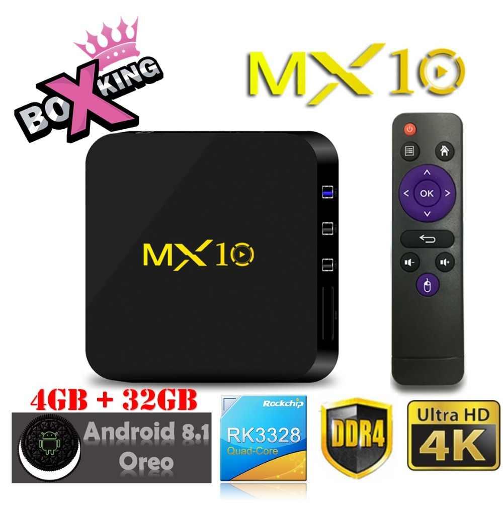 Original MX10 4GB Ram 32GB Rom Oreo Smart TV BOX Android 8 1 RK3328 Quad  Core Set Top Box H96 Max Mx9 Pro Tx28