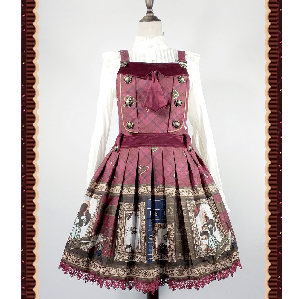 The Magic Dictionary Steampunk Style Lolita JSK Dress by Infanta