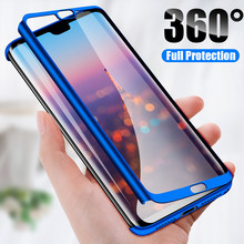 H&A Luxury 360 Full Cover Phone Case For Huawei P20 Lite P20 Pro Shockproof Cover P20 Lite P20 Pro Screen Protector Fundas Capa(China)