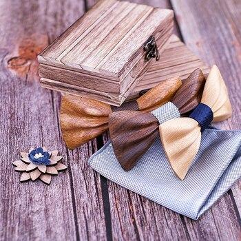 Boy's Fashion Wooden Bow Tie Set 3