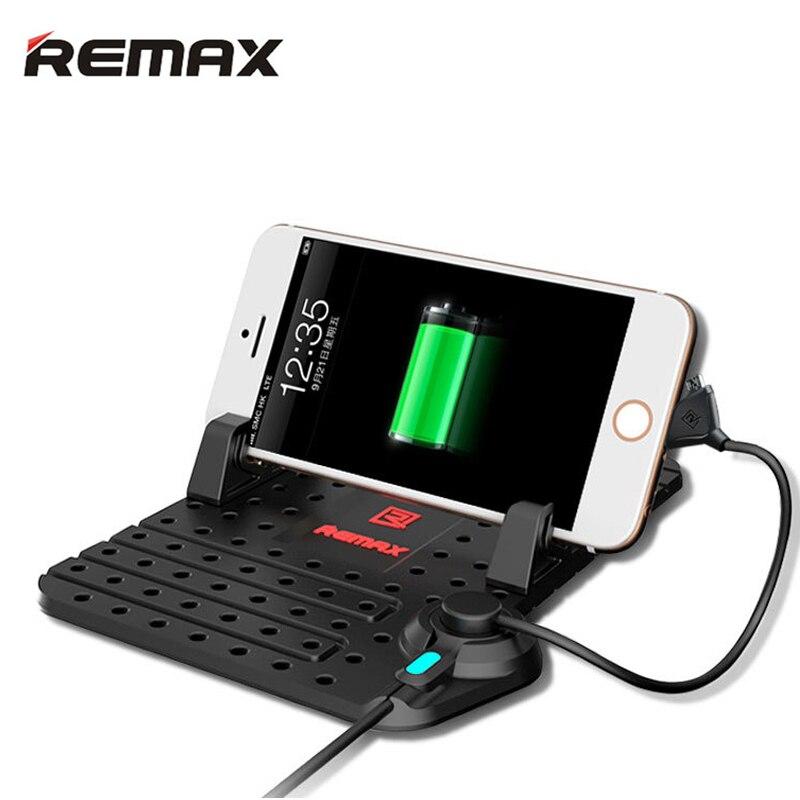 Remax Per Auto Regolabile Staffa di Supporto del telefono dell'automobile Monti Con 2 in 1 USB Magnetico Cavo di Ricarica Per iPhone 5 6 7 xiaomi Samsung GPS