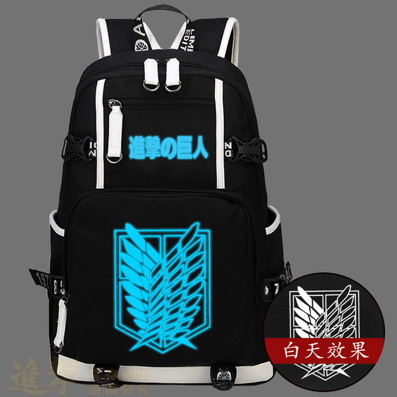 Attack on Titan Shingeki no Kyojin Backpack Cosplay Freedom Wing Men And Women Middle School Student Backpacks Laptop Bags