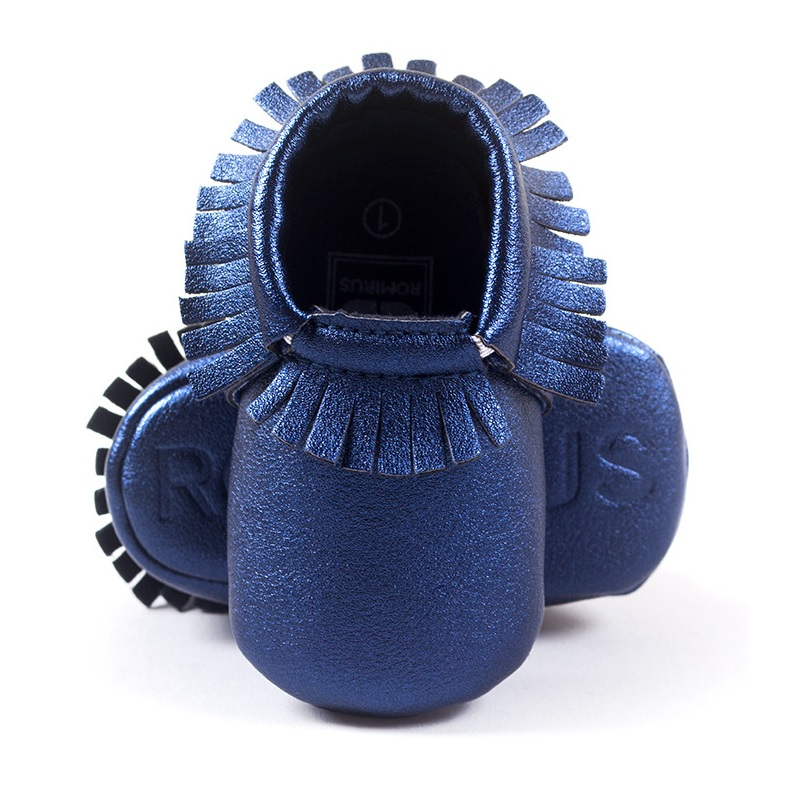 Hooyi Baby Boy Shoe Blue Fringe Soft Newborn First Walkers Infant Sneakers Children Moccasin Girls Boots 0 1 2 Year Solid