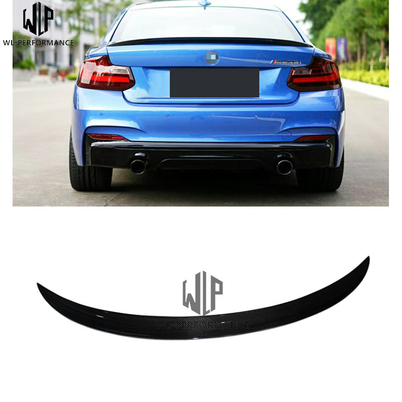 For BMW 3 series E92 carbon fiber tail fin fixed wind wing pressure wing Car body kit P type tail fin 2005 2012 Car styling