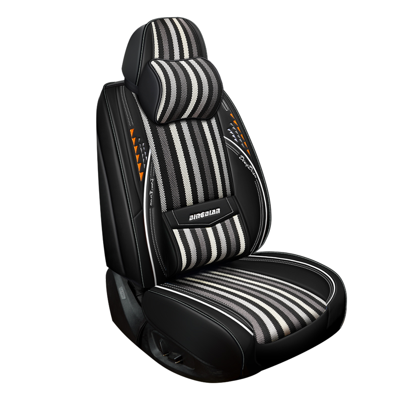 Car Seat Cover (Front + Rear) Cushion,Ice silk Senior Leather,New Sport Styling,Car-Styling For Sedan SUV