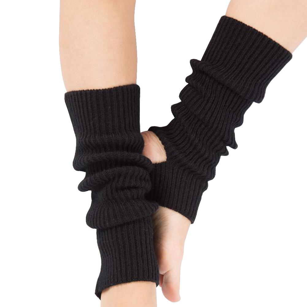 Yoga Socks Knitted Leg Warmers Boot Socks Body Cover Black/grey For Gym Fitness Latin Dance Ballet Exercise Sock Woman Girls