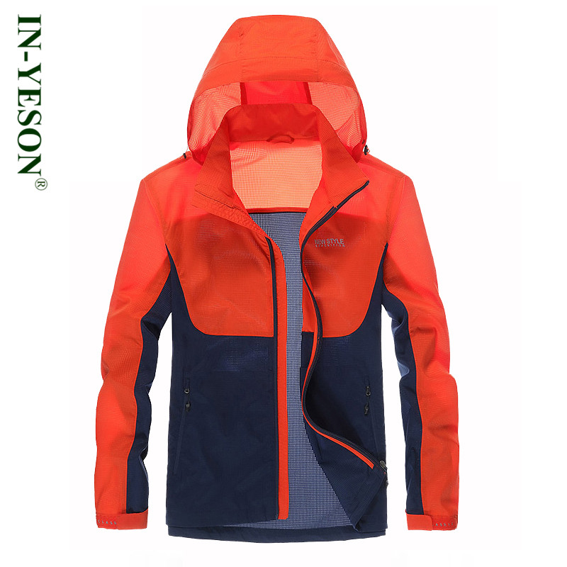 High quality thin sunscreen jacket brand IN-YESON breathable quick drying windproof jacket men waterproof anti-UV skin Jacket