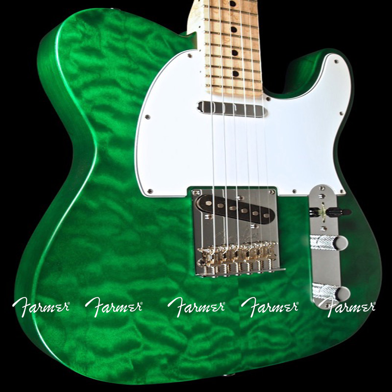 custom shop maple green water wave telecaster guitar 6 string electric guitar free shipping. Black Bedroom Furniture Sets. Home Design Ideas