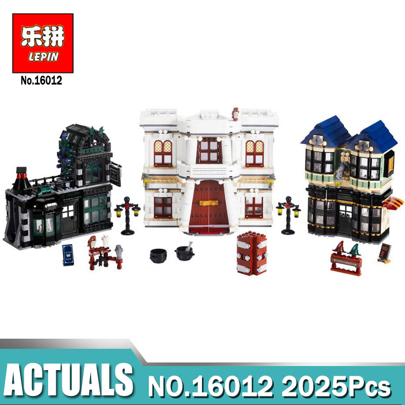 Lepin 16012 2025Pcs Magic Word Diagon Alley Set Educational Building Blocks Bricks Model Toys Gift  compatible Legoing 10217