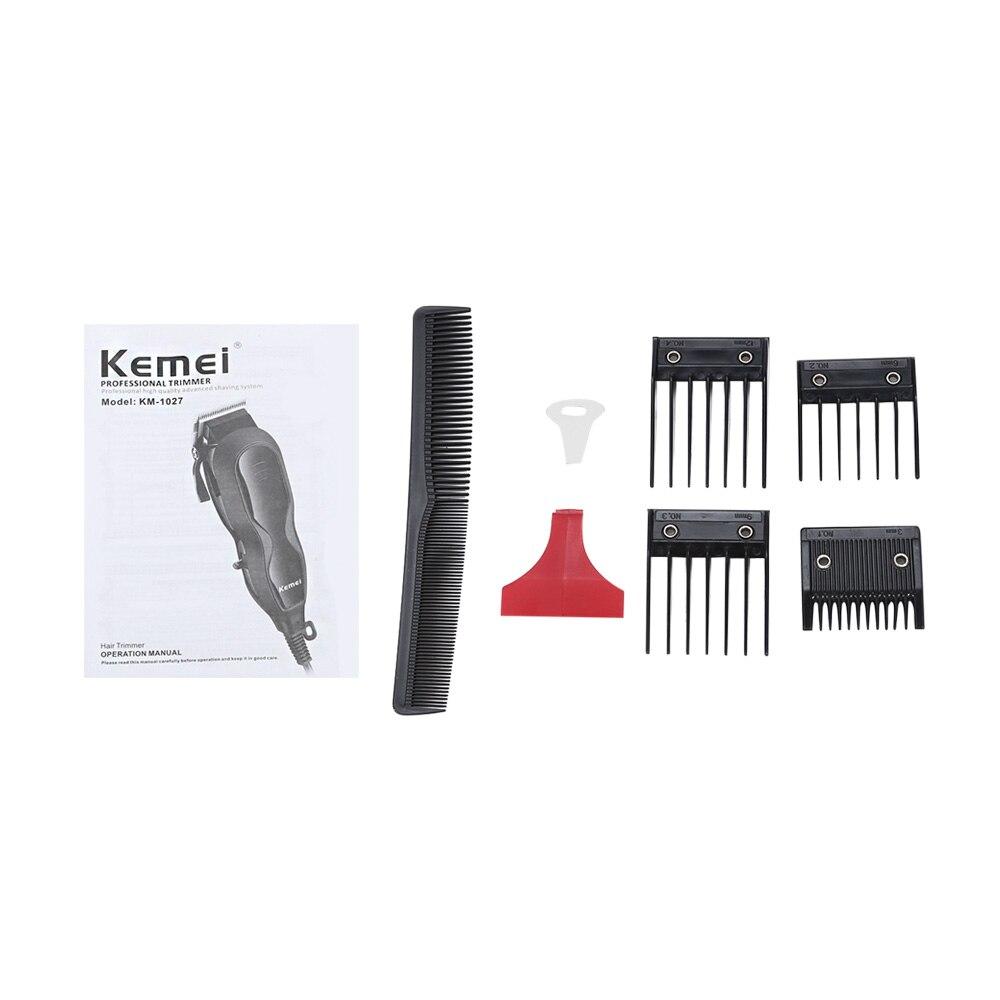 Kemei Km 1027 Adjustable 12w Electric Hair Clipper Ac220 240v Hair