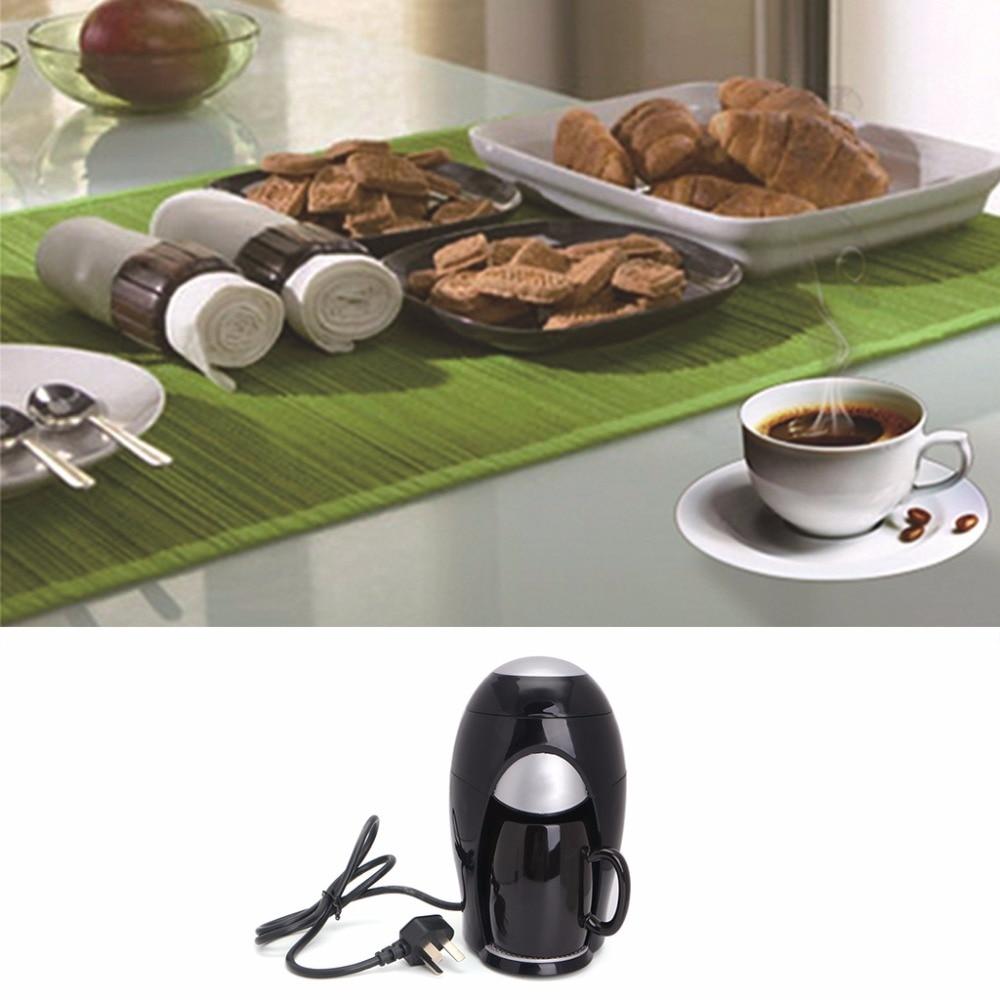 Mini Coffee Maker Machine Household Automatic Drip Type Single Cup Coffee Pot