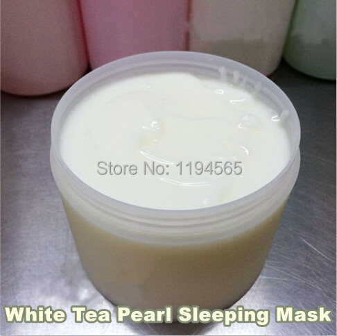 1KG White Tea Pearl Sleeping Facial Mask Moisturzing Whitening Brighten Tone Age Spots Beauty Salon Equipment 1000ml 1KG 1 kg beauty salon products skin care white tea sleeping mask anti aging whitening and remove hydrating anti radiation 1000ml