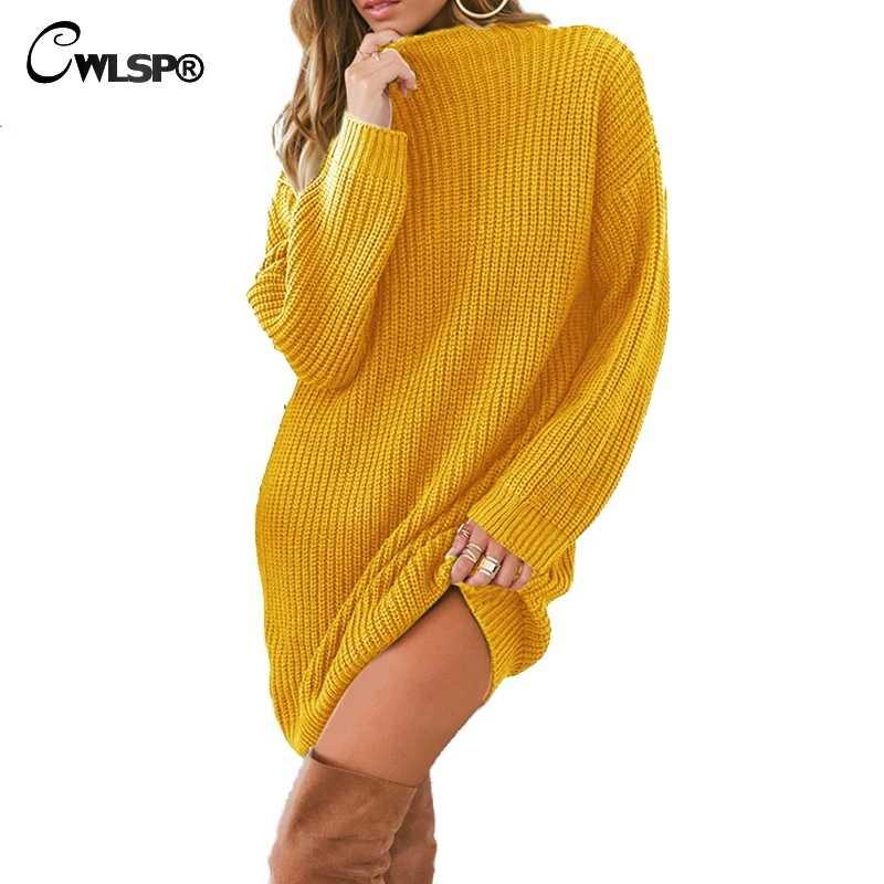 5f2c4cab1d878 CWLSP Skinny Ribbed Sweater Dress Women Slash Neck Off Shoulder Long ...