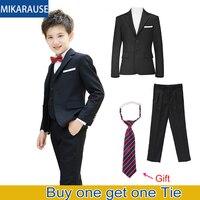 2PCS Kids Boys Black Suits Boy Clothes Sets Wedding Blazers Children Party Piano Performance Blazer Costume Tuxedos For Wedding
