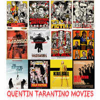 Wall Stickers Quentin Tarantino Movie Posters High Quality Pulp Fiction Kill Bill Home Decoration MO30