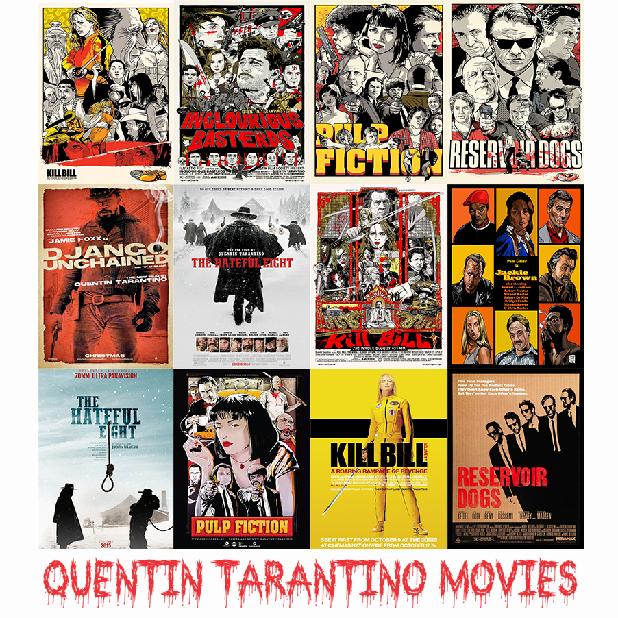 Wall Stickers Quentin Tarantino Movie Posters High Quality Pulp Fiction Kill Bill Home Decoration MO30 image