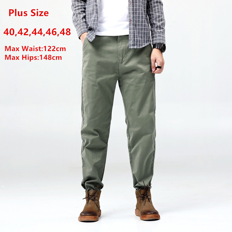 Hip Hop Pants Men Trousers Casual Harem Joggers Mens Fashions Pant Japanese Black Loose Trouser Plus Size 40 42 44 46 48 Jogger
