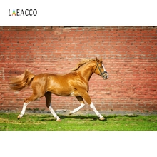 Laeacco Horses Speeding Farms Racing Wall Photography Backgrounds Photographic Customization Customize Backdrop For Photo Studio