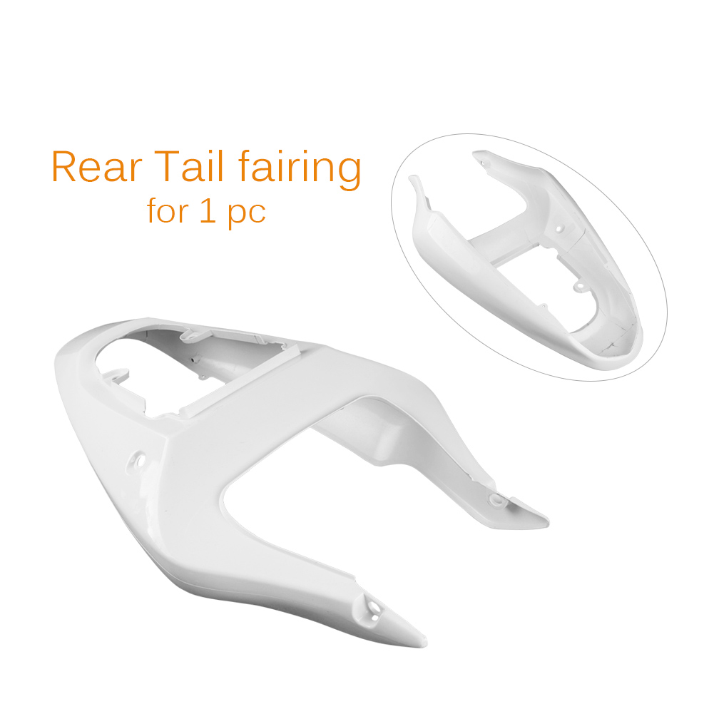 Tail Rear Fairing Body Kit For Suzuki GSXR 600 750 2000-2003 K1 & GSXR 1000 2001-2003 K2 Unpainted White Motorcycle Accessory front upper fairing cowling headlight headlamp stay bracket for suzuki gsxr600 gsxr750 gsxr 600 750 k1 k2 k3 2000 2001 2002 2003