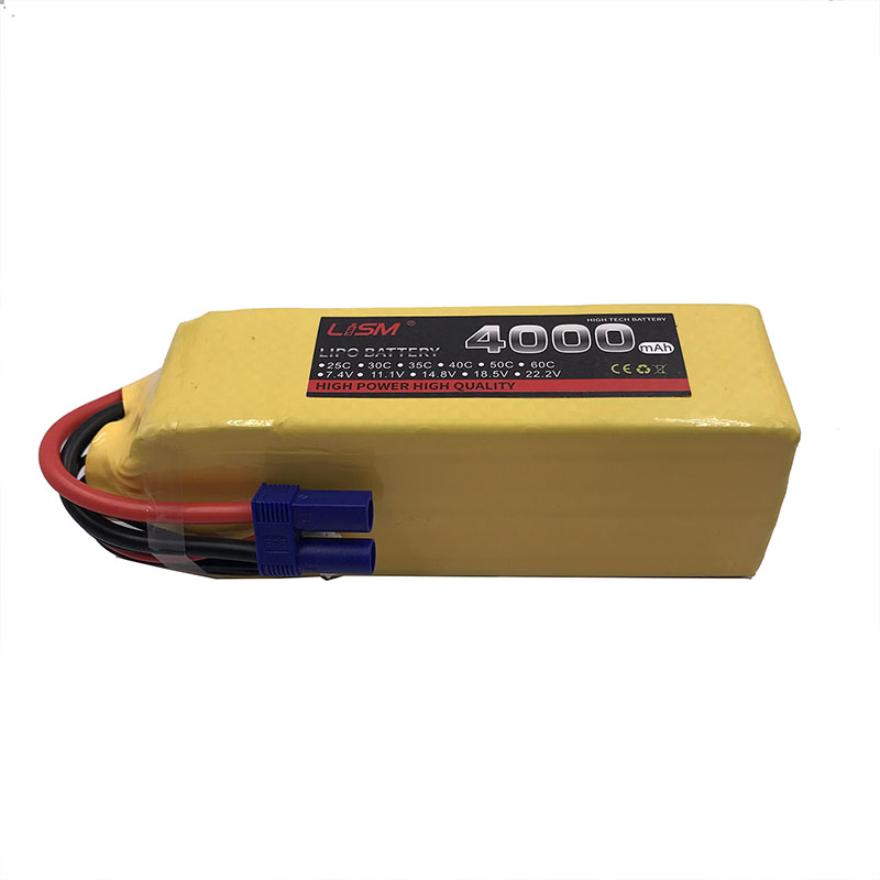 22.2V <font><b>6S</b></font> <font><b>4000mAh</b></font> 25C <font><b>Lipo</b></font> Battery For RC Helicopter Drone Quadcopter Car Boat Lithium Battery Remote Control Toys Li-ion #30F7 image
