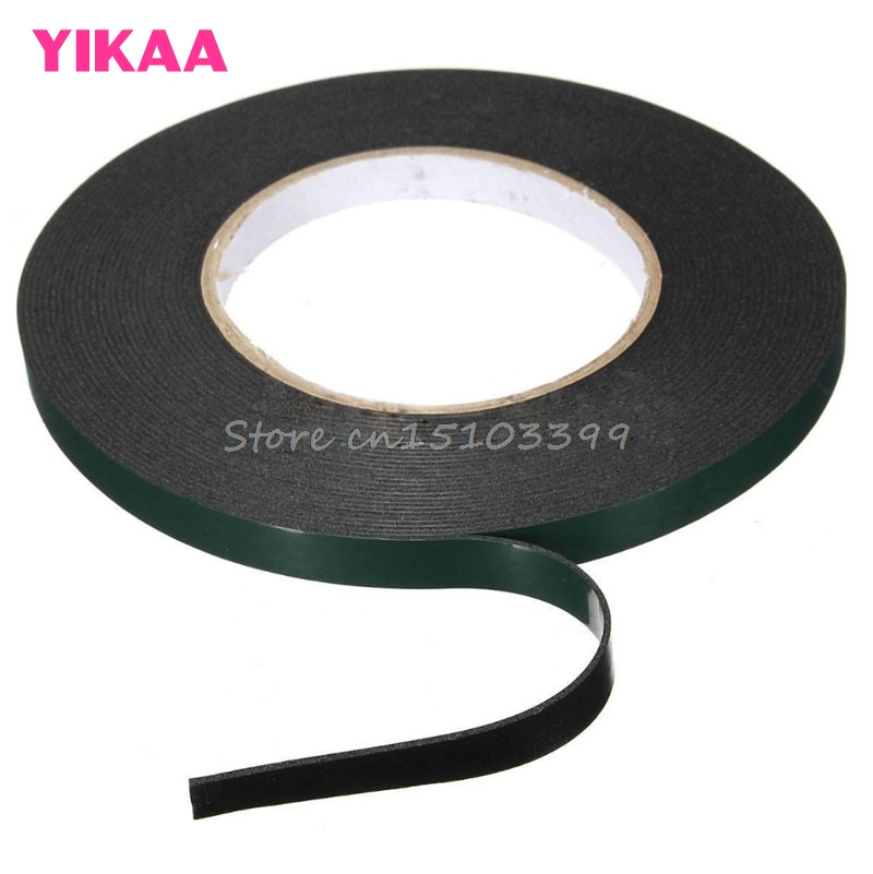 10M*10MM Strong Adhesive Waterproof Double Sided Foam Green Tape Trim home Car #G205M# Best Quality 10m super strong waterproof self adhesive double sided foam tape for car trim scotch