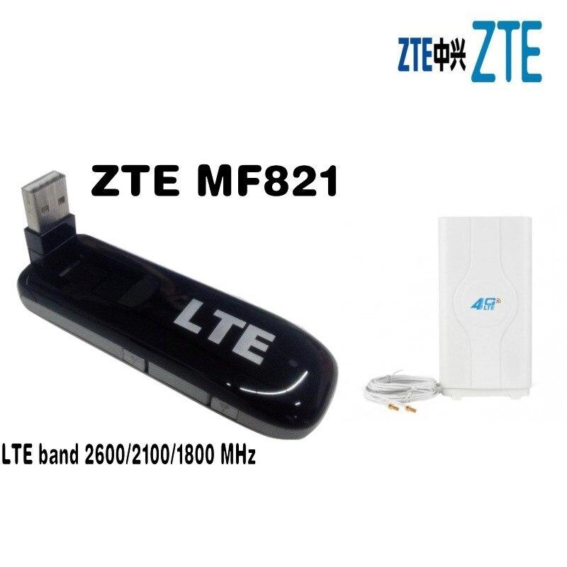 все цены на Unlocked ZTE MF821 100Mbps Wireless WIFI Router Mini 4G LTE Modem WIFI Router FDD 1800/2100/2600MHz +2XTS9 49dbi 4G Antenna Mimo