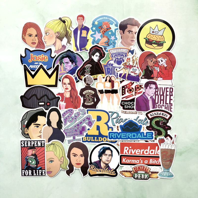 35pcs/set Funny Riverdale Stickers For Suitcase Laptop Skateboard Home Decoration Car Styling Vinyl Decals Waterproof Stickers Commodities Are Available Without Restriction