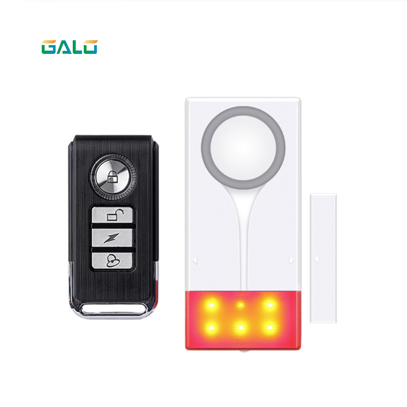 New 433MHz Home Security Alarm Red Flash With Sound Window Door Magnet Sensor Detector Wireless Alarm System+Remote Controller