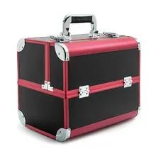 df26dfbd4 Bolsa de cosméticos profesional portátil maletas para cosméticos de gran  capacidad bolsas de maquillaje de viaje
