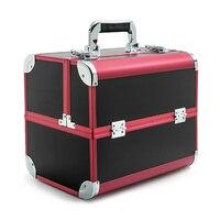 Taşınabilir Profesyonel Kozmetik Çantası Bavul Kozmetik Için Büyük Kapasiteli Kadınlar Seyahat Makyaj Çantaları Kutusu Manikür Kozmetik Durumda