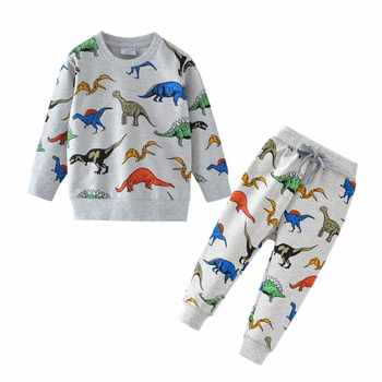 Dinosaur Children Kids Clothing Sets Cartoon Spring Cotton Shirt and Pants Boys Long Sleeve Clothing Suits Kids Winter Sets - DISCOUNT ITEM  35% OFF All Category