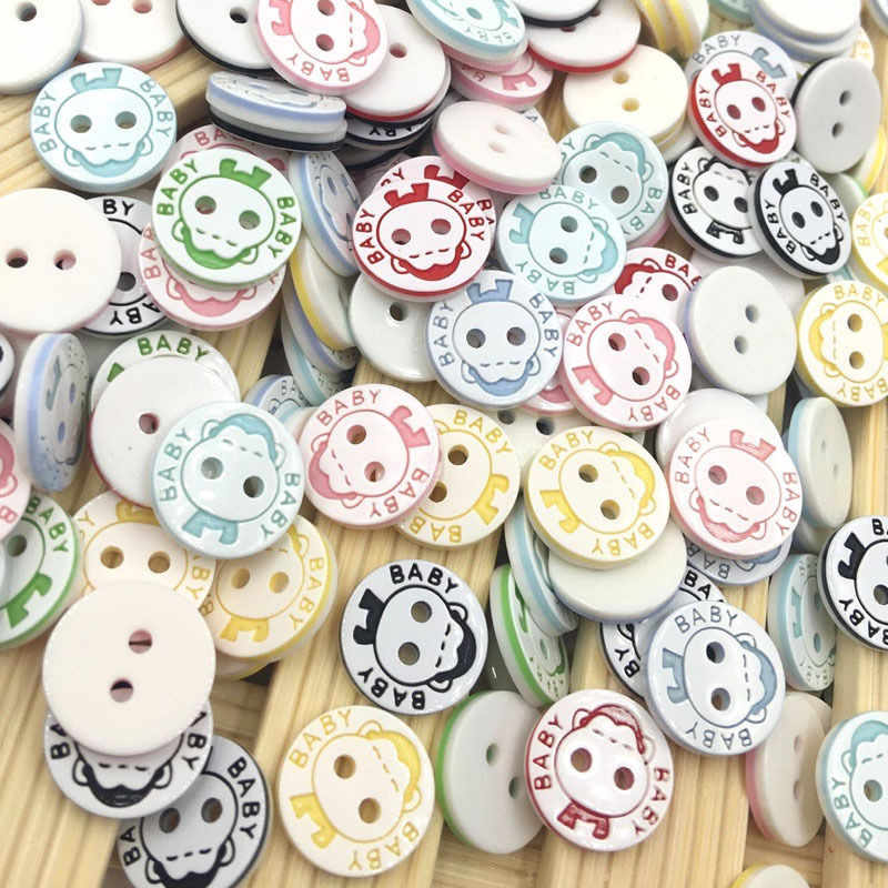 10/50/100 pcs 13mm Campuran Bayi Plastik Tombol Scrapbooking Jahit Craft PT138