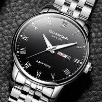 תאריך אוטומטי גברים לשחות שעונים זכר למעלה מותג יוקרה עסקי קוורץ שעון גברים מקרית Slim שמלת עמיד למים 50 M ספורט שעון 2019