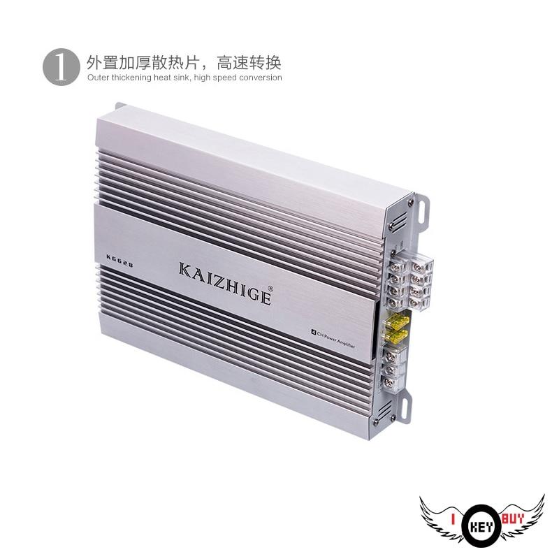 I Key Buy 4*100 W AB classe amplificateur de voiture 12 V fièvre-classe Auto 4 canaux 4 voies amplificateurs Radio Bar porte haut-parleur 4Ohm