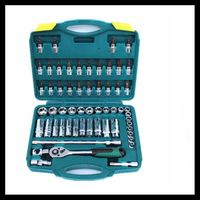 58 pieces 3/8 medium fly sets tube 10mm car care tools ratchet wrench screwdriver sets of tools