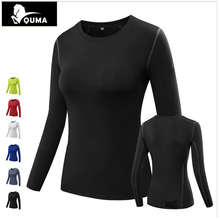HOT 2017 Spring Autumn Women Sport running Fitness Pro high elastic Bodybuilding long Sleeve Skinny close-fitting tight jersey