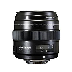 Image 4 - YONGNUO YN100mm 100 مللي متر F2N ثابت البؤري لكاميرا نيكون عدسة ، دعم AF/MF فتحة كبيرة القياسية المتوسطة المقربة رئيس عدسة