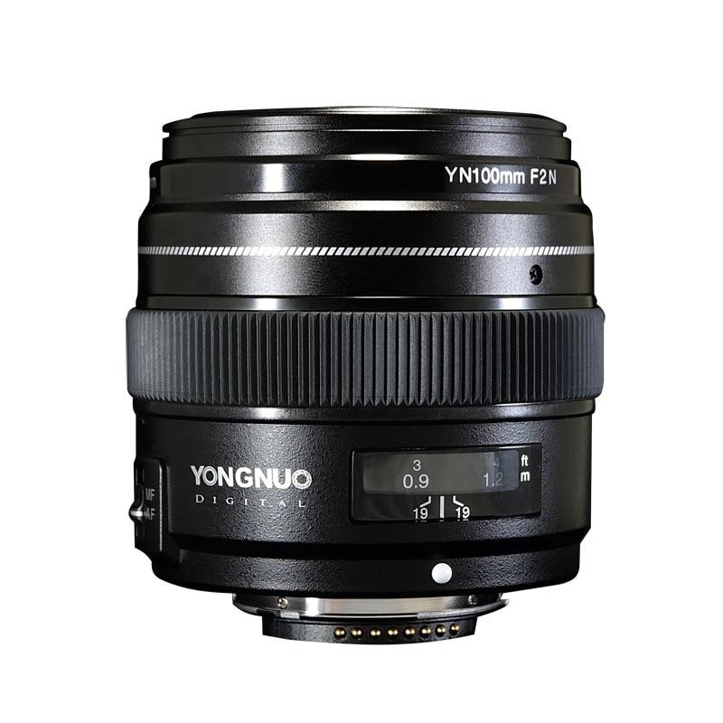 YONGNUO YN100mm 100mm F2N focale fixe pour objectif de caméra Nikon, prise en charge AF/MF objectif de téléobjectif moyen à grande ouverture Standard - 4