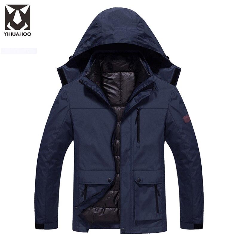 2017 New Arrival Thickening Winter Jacket Men Warm Parka Coats Waterproof Mountain Jackets Men's Sportswear Male LBL-1689