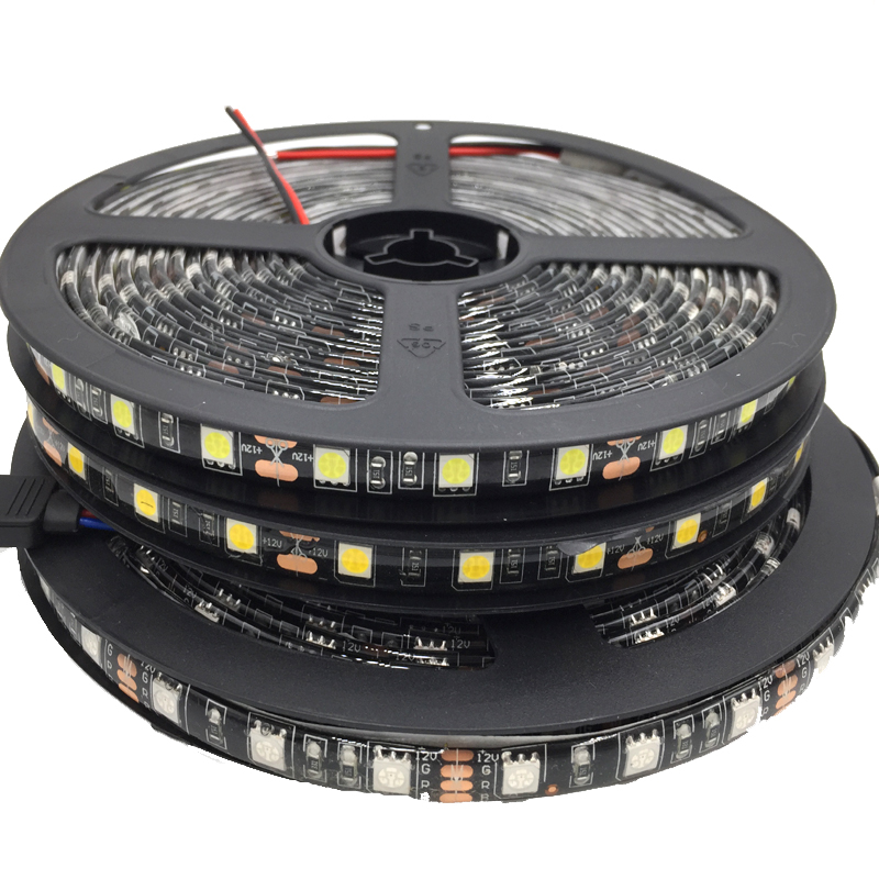 5050 Black PCB LED Strip IP65 Waterproofs