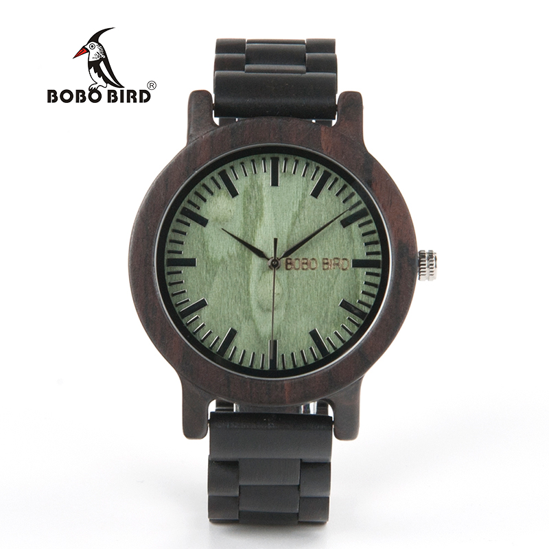 Casual Vintage Watch Men BOBO BIRD Wooden Watches Handmade Wooden Band Male Wristwatch relogio masculino C-M04 2017 luxury watch bobo bird wood watches for men wooden band wristwatch with bamboo box relogio masculino b n07