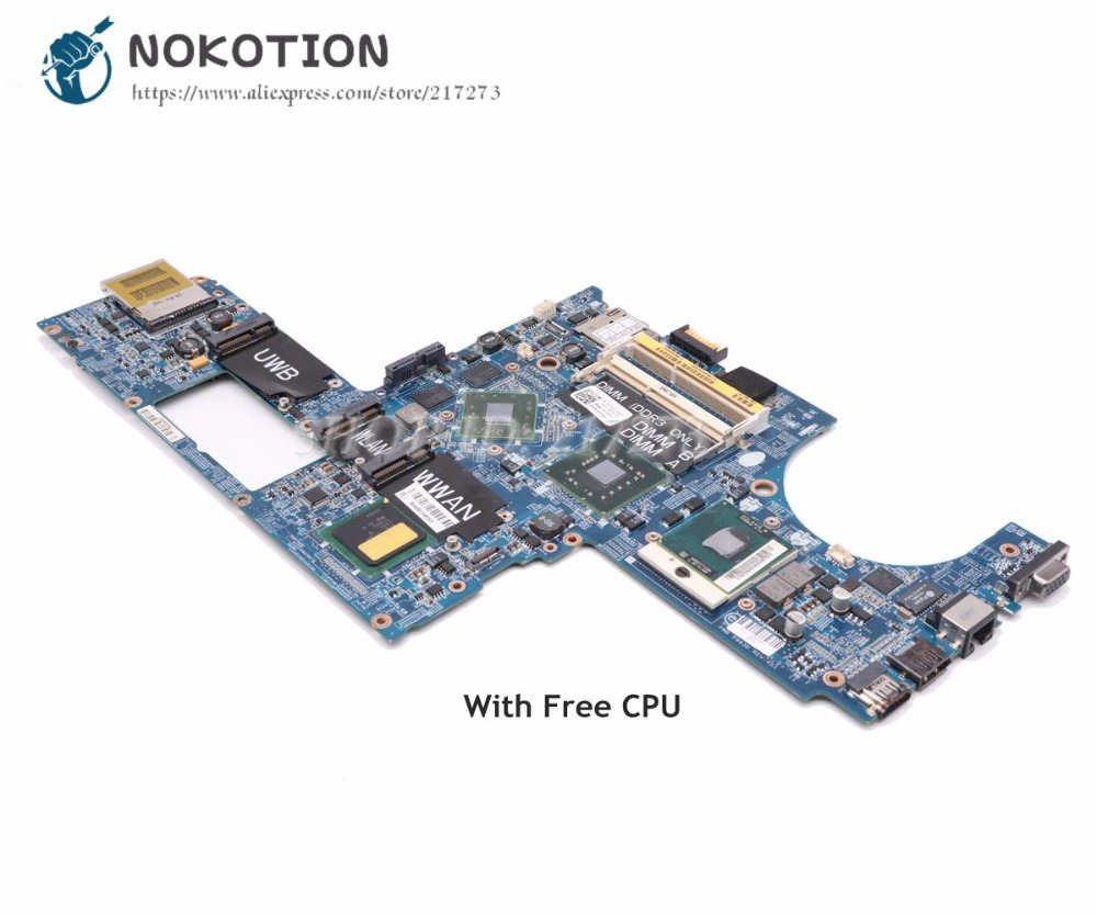 NOKOTION Laptop Motherboard For Dell Studio XPS 1640 PP35L DA0RM2MBAH0 CN-0P743D 0P743D MAIN BOARD HD3670 DDR3 Free CPU original usb ethernet hdmi board for dell xps one 2710 09r92h 9r92h cn 09r92h 100