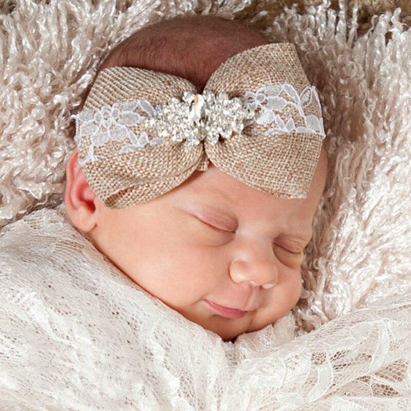 8b3f6609475c Nouveau-né dentelle Bandeau Bébé Fille Bandeau Fleur Cheveux Arc En Bas Âge  Enfants Cheveux Accessoires Photographie Prop